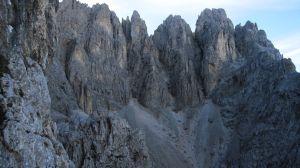 Depuis la voie Franceschini (cima del Coro)
